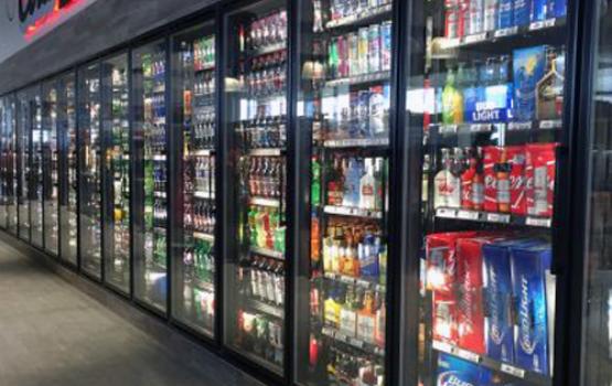 beverages for sale inside commercial refrigeration